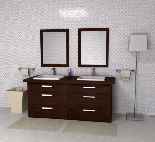 Luxury Family Bathroom - 3d illustration