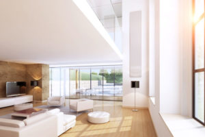 Modern interior with sunflare effect!