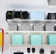 Take advantage of your garage's natural ventilation system (the great outdoors!), and give any smelly sports equipment — hockey bags, jerseys, you name it — a place to dry.