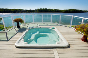 Hot Tub Spa With Amazing Waterfront View
