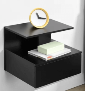 This wall shelf is perfect for creating more practical storage space in your home. The stylish shelf also has a drawer, and an extra shelf, which can hold up to a maximum of 5kg each. It's quick and easy to assemble too. The shelf measures 31cm H x 35cm W x 40cm D in total. Each drawer has internal dimensions of 10cm H x 28.5cm W x 32cm D, and the top shelf is 26cm W x 40cm D in size. The distance from the top to the bottom shelf is 14cm. The shelf is made of particle board. This is an En casa branded product. Includes one shelf, with a drawer and an extra shelf, and all the necessary mounting materials.