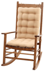 This is an image of a pack of 2 beige Trendcode Rocking Chair Cushion Pad Seat
