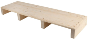 This is an image of a Lehom Solid Wood Step Stool 39''