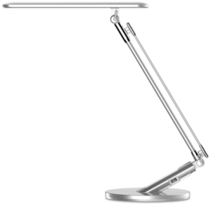This is an image of a silver JUKSTG LED Desk Lamp,